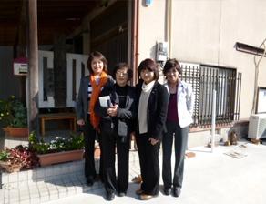 2011年11月 佐賀 宅老所視察 代表は平沼高校の先輩でした。