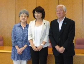 2011年8月 県議会拉致議連学習会 横田ご夫妻と