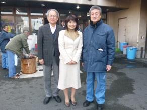 2012年2月 青井区長、青木所長と