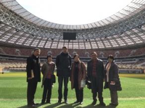 2018年4月 モスクワ教育事情調査 レーニンスタジアム(1)